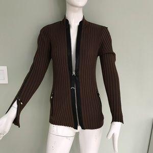 NWT zip sleeve zip front sweater
